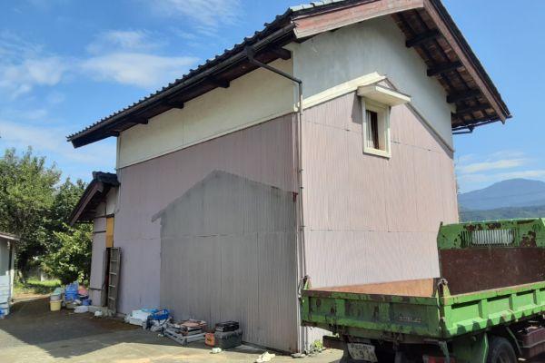 福井県 大野市 木造2階建て蔵 解体工事